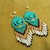 Native American Style Rosette Beaded DebsVisions Signature Earrings
