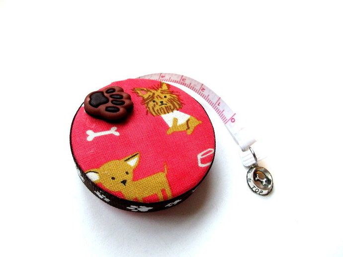 Copy of Tape Measure Mixed Dogs on Corall Retractable Measuring Tape