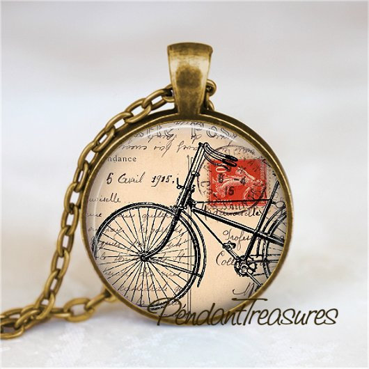 BICYCLE Necklace, Bicycle Pendant, Bicycle Jewelry, Bicycle Charm, Bike