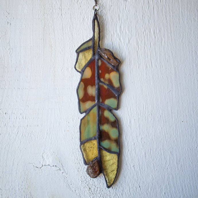 """Seasons,"" Stained Glass Talisman with Citrine."
