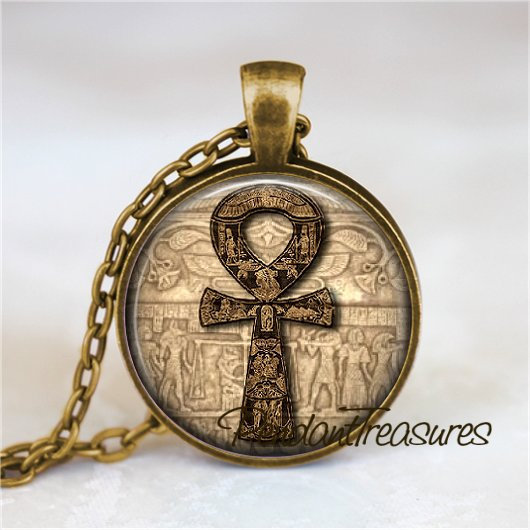 ANKH Necklace Pendant or Keychain Egyptian Necklace, Egyptian Cross New Age