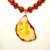Carnelian and agate bold statement necklace. Adjustable length necklace, orange