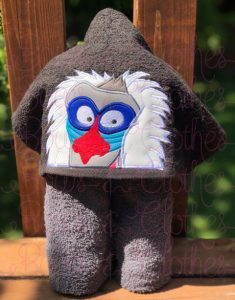 LION MONKEY -  hooded Towel