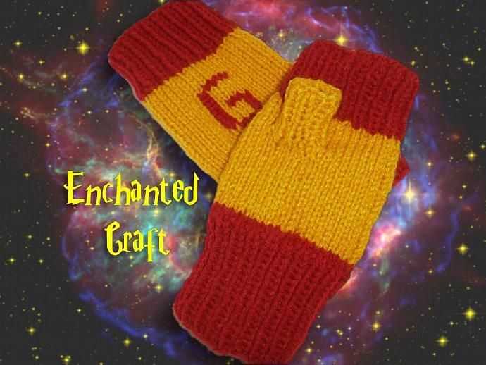 WARM and FUN Gryffindor Fingerless Gloves for the Harry Potter fan