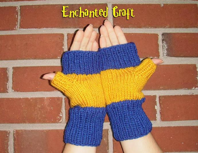 WARM and FUN RAVENCLAW Fingerless Gloves for the Harry Potter fan