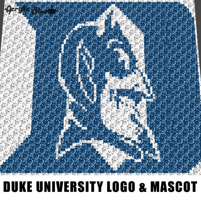 Duke University Letter D and Mascot Face Durham North Carolina College Logo