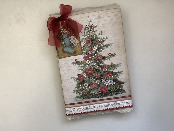#2 Fabric Cover Christmas Folio - Stamperia Paper