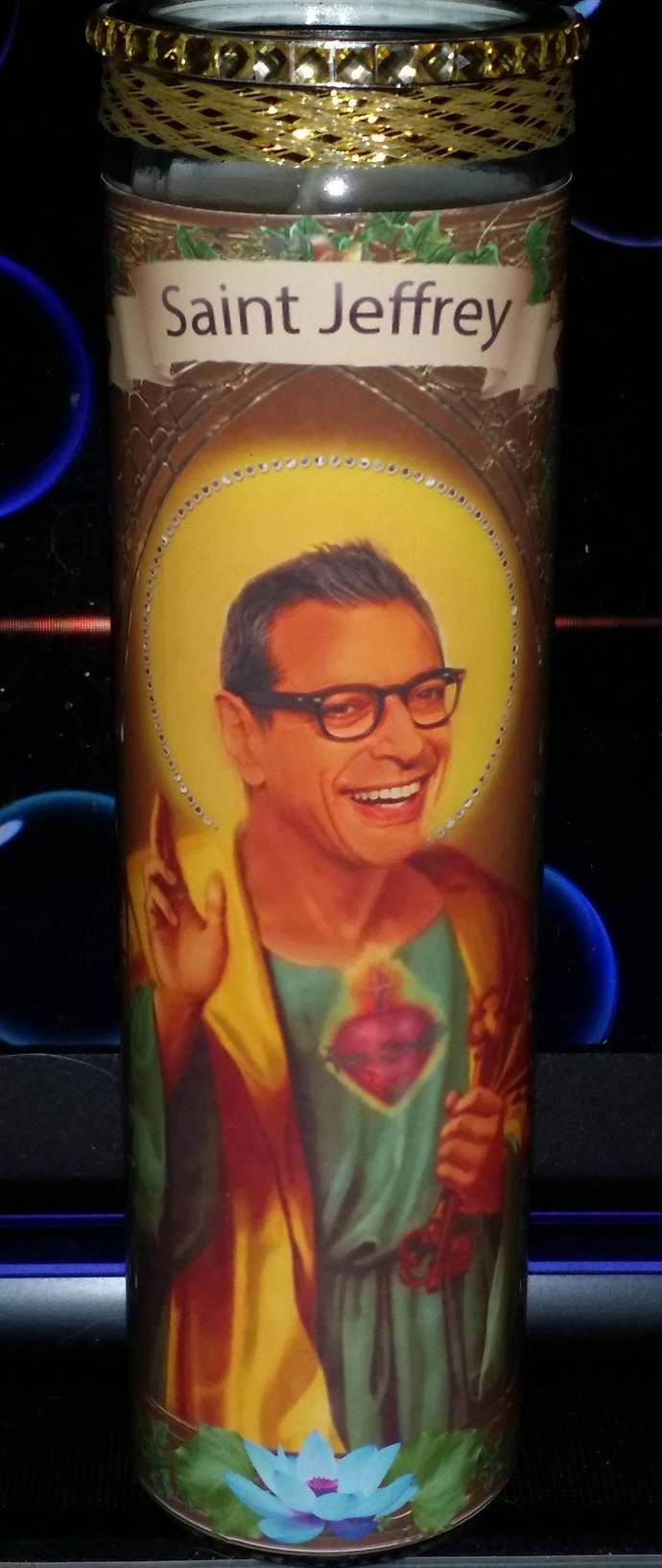 Jeff Goldblum Celebrity Prayer Saint Candle - Church  styled