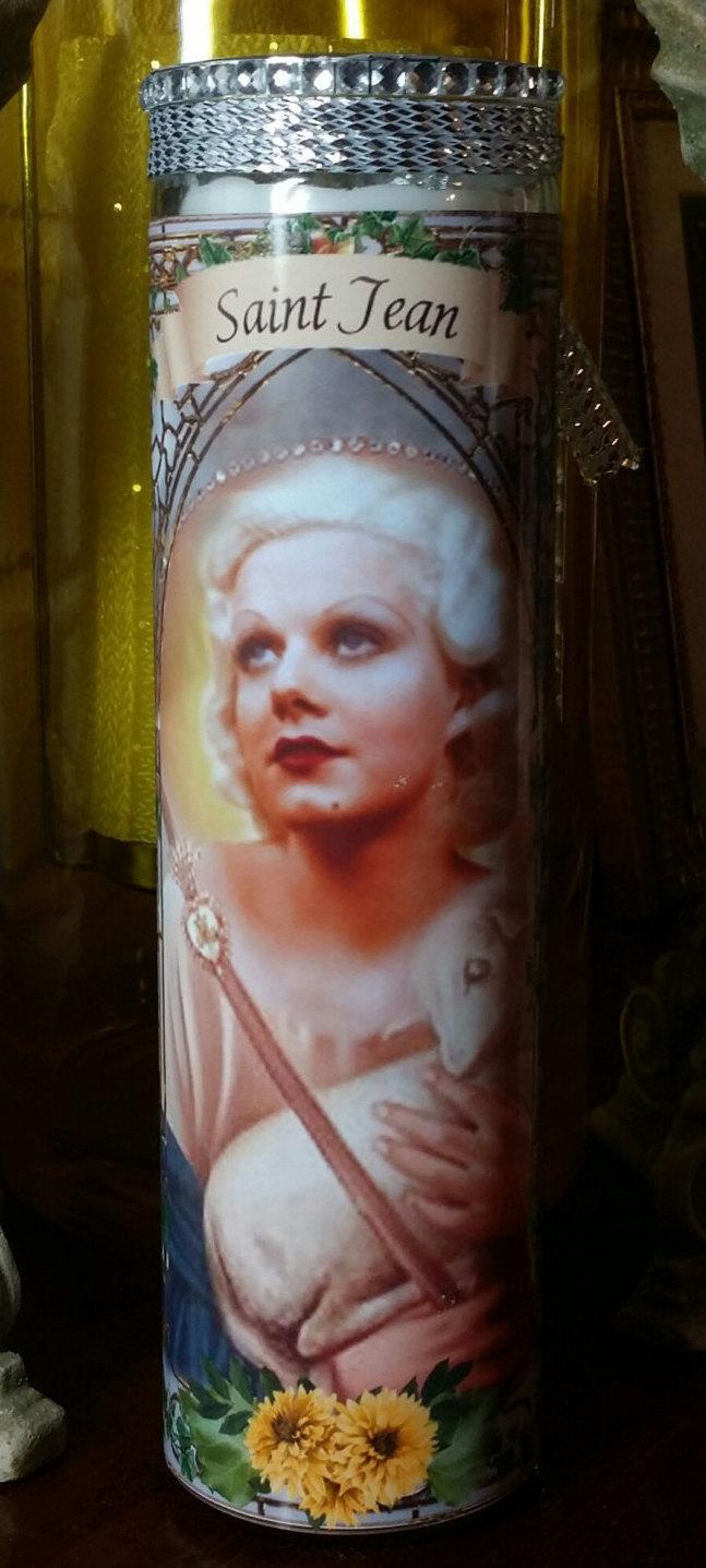 Jean Harlow - Celebrity Saint Prayer Candle - Church