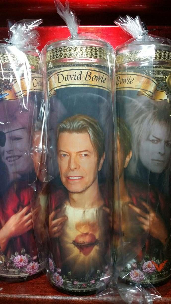 David Bowie Devotional Prayer Candle