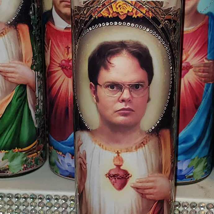 Dwight Schrute of The Office  - Celebrity Saint prayer Candles