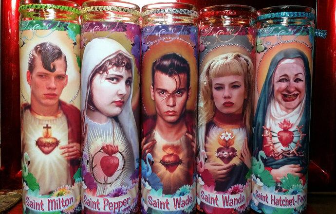 Cry Baby Celebrity Saint prayer candles -set of 5:  Wade, Wanda, Milton, Pepper,