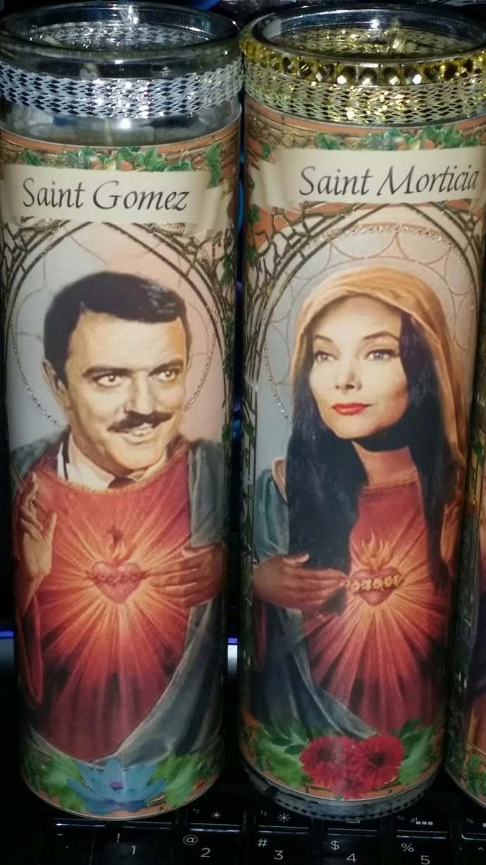 Gomez and Morticia Addams - Addams Family - tv - 60s -  Celebrity Saint Prayer
