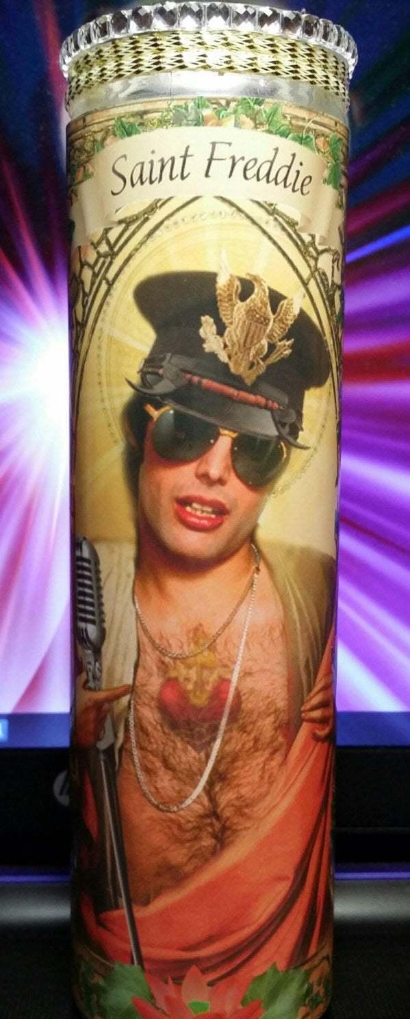Freddie Mercury - Celebrity Saint prayer Candle