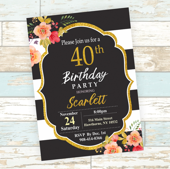 Surprise 40th 50th 60th 70th Birthday Party- Digital File- No Instant Download!