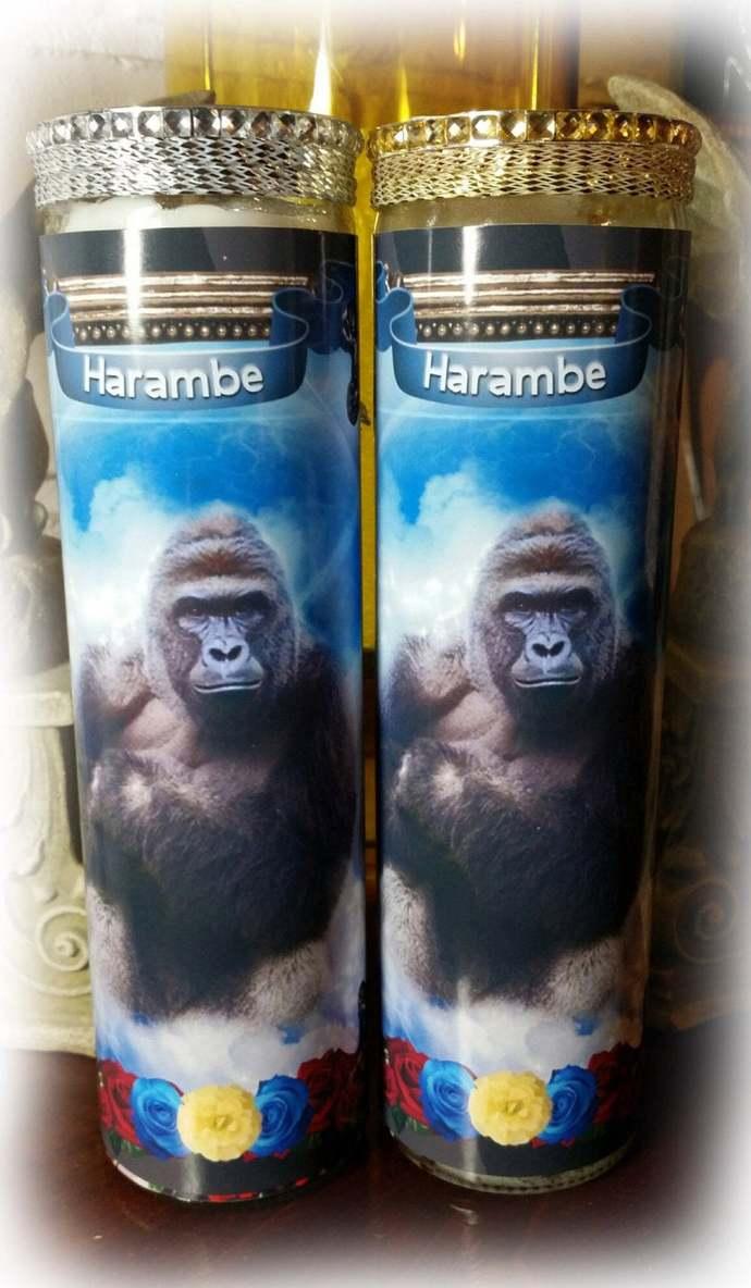 Harambe Memorial Candles - Pet Prayer Candles