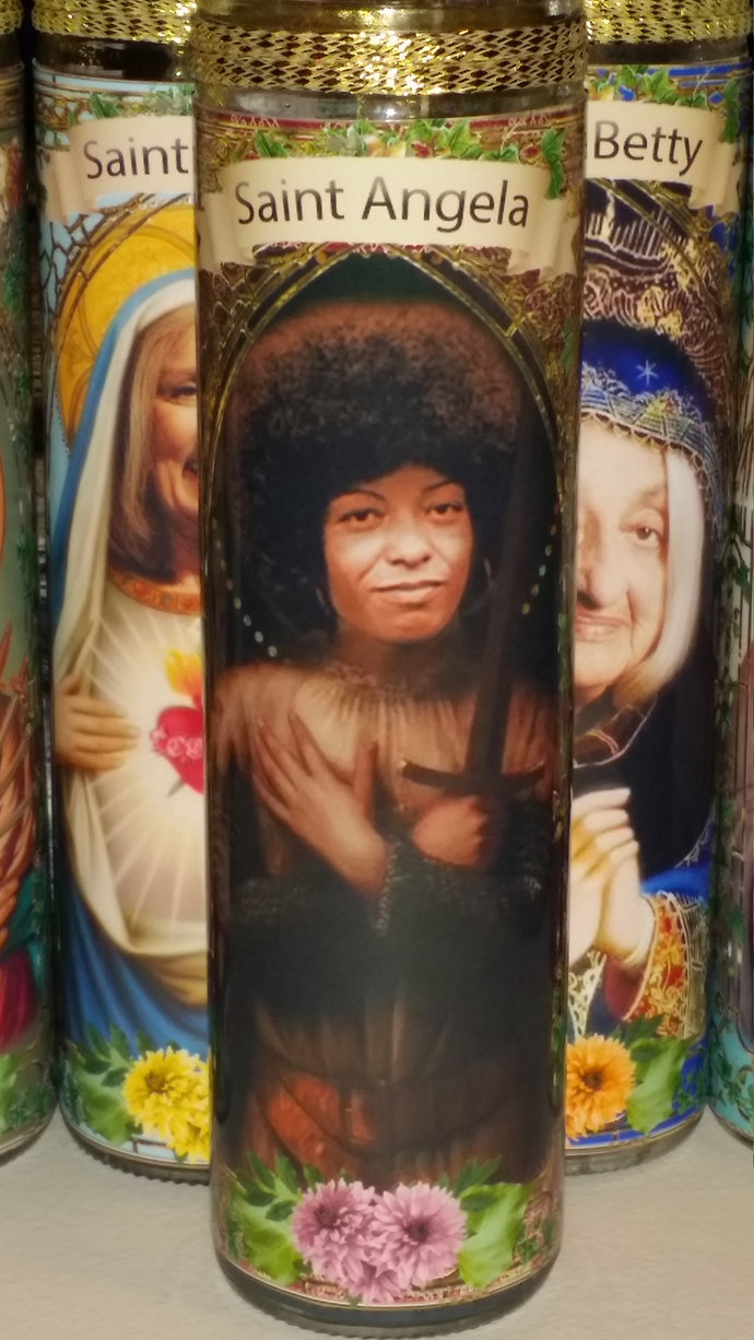 Angela Davis - Author, Feminist and Activist -  Celebrity Saint Prayer Candle