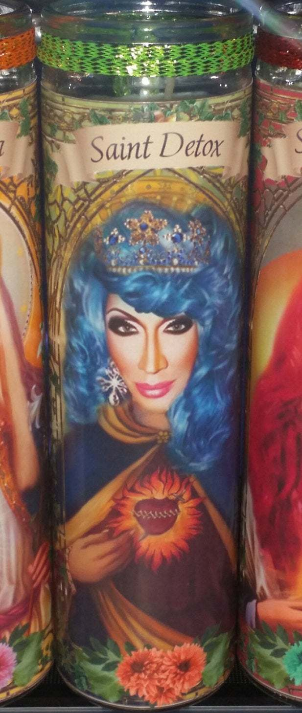 Detox of RuPaul's  Drag Race  - Drag Queens -  Celebrity Saint Prayer Candles