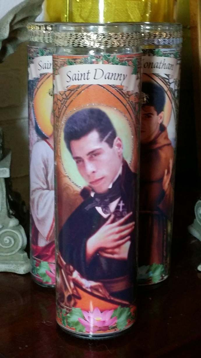 Danny Wood Celebrity Saint Prayer Candle - New Kids on the Block NKOTB