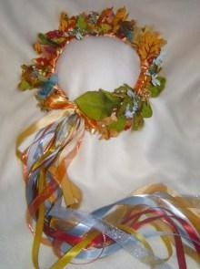 Tarot Empress Silk Leaf Head Wreath/ Renaissance Faire /Wedding/ Costume