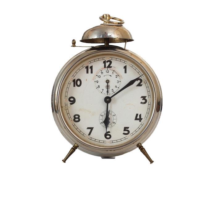 Vintage Junghans Wind-Up Alarm Clock, Junghans, Bedside Clock, German Clock,
