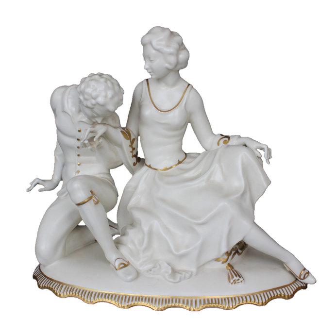 Antique Porcelain Figurine by Carl Werner Hutschenreuther, Art Nouveau