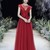 Red Prom Dress,Tulle Prom Gown, A-Line Prom Dress,Appliques Wedding Gown 0048
