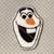 Snowman inspired Feltie 4 pc UNCUT