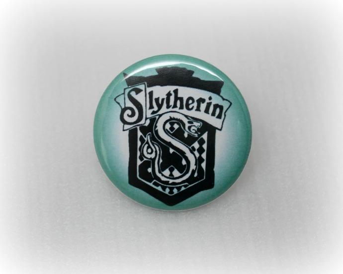 Slytherin Crest - Harry Potter - Pinback Button Magnet Keychain Flatback Badge