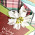 Wishing You the Happiest of Holidays Greeting Card, White Flower, Layers,
