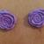 Light Purple Clay Rose Earrings