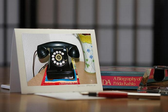 Photo Note Card - Funky Old Telephone