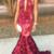 Black Grils Halter Satin Mermaid Prom Dresses High Neck Lace Applique Beaded 3D
