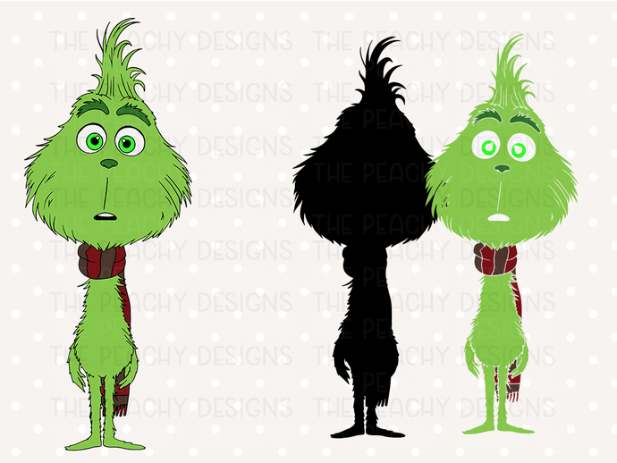 Grinch SVG files, The grinch cut files, christmas grinsvg, clipart, eps, dxf
