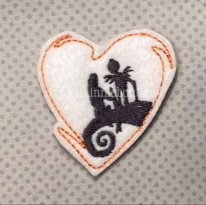 NMBC Heart Jack Sally love inspired 4 pc UNCUT Felties