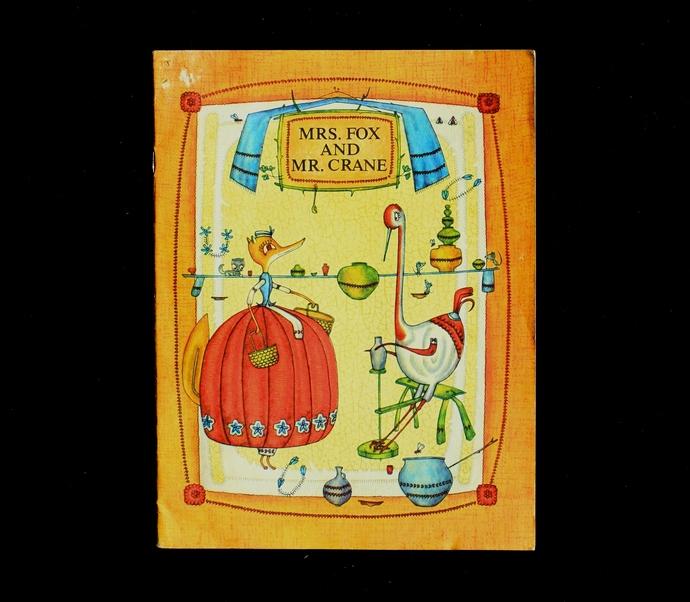 Mrs. Fox and Mr. Crane, 1988 / children's book / illustrated/ vintage book