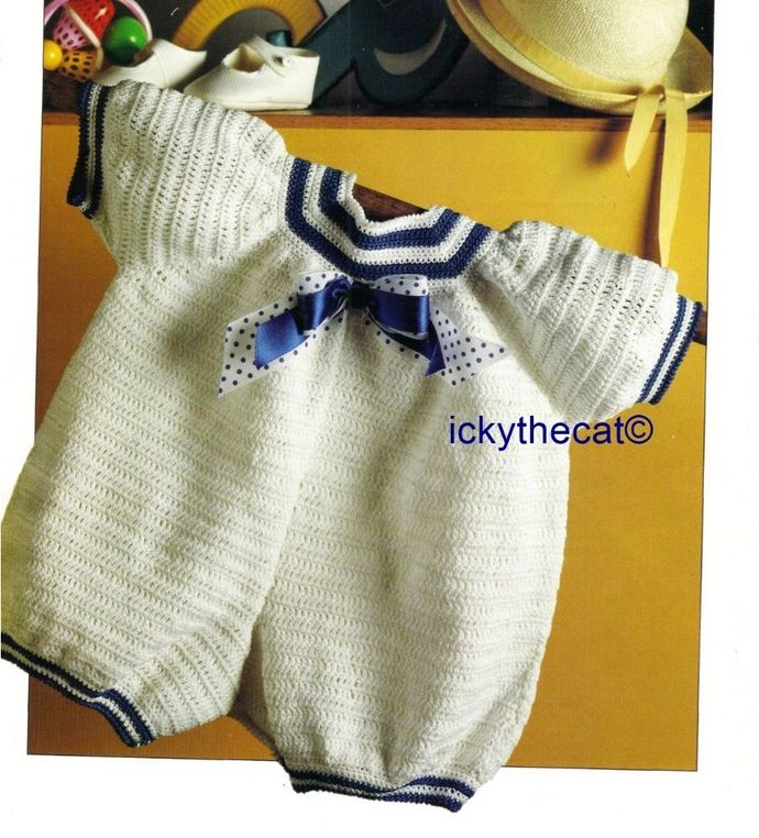 Instant PDF Digital Download Vintage Crochet Pattern Baby Babies Baby's