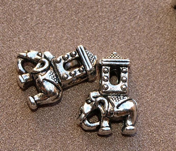 Decorated Indian Elephant Charm 11-307