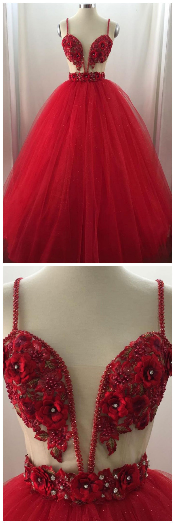 Sweetheart Tulle Long Prom Dress, Tulle Evening Dress