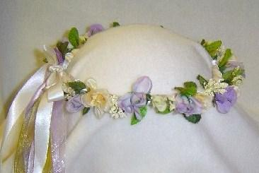 Carol's Wreath Hand Crafted Lavender /Ivory Renaissance