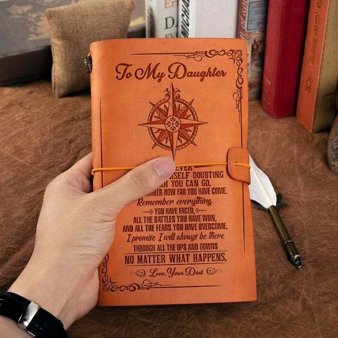 Christmas Gifts For Daughter - Leather Journal For Daughter - Great Gift For