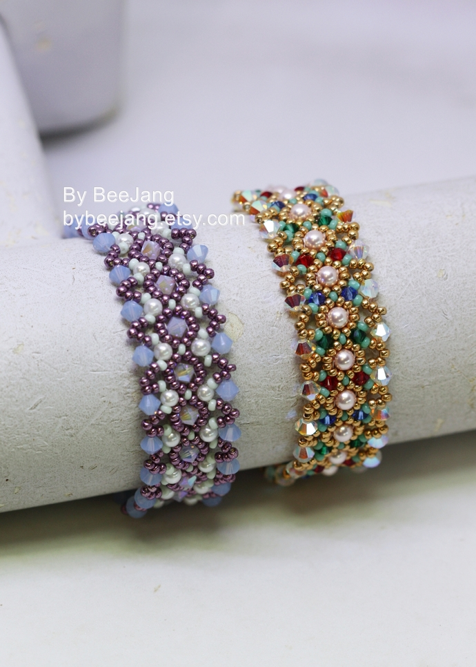 Beading Patterns - Iolanthe - Bracelet Tutorials - Digital Download - PDF