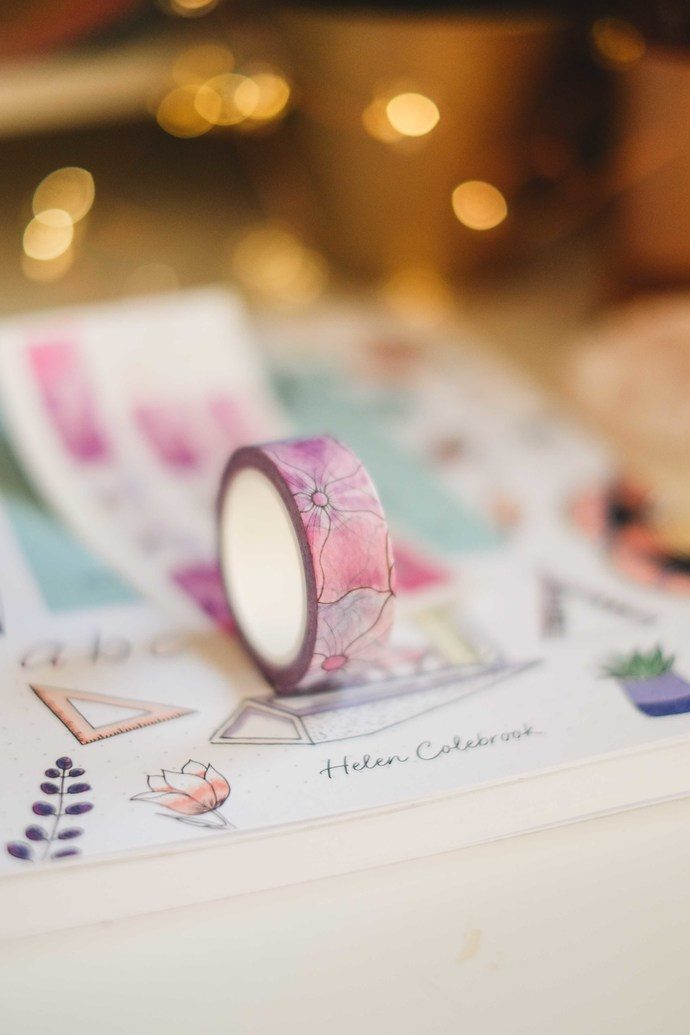 Journal with Purpose by Helen Colebrook with exclusive washi designed by Helen!