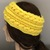 Handmade Crochet Aran Isles Ear Warmer, Sunshine Ear Warmer, Celtic Stitch Ear
