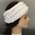 Handmade Crochet Aran Isles Ear Warmer,,White Ear Warmer, Celtic Stitch Ear