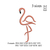 Flamingo embroidery design embroidery pattern N 924  ... 3 sizes