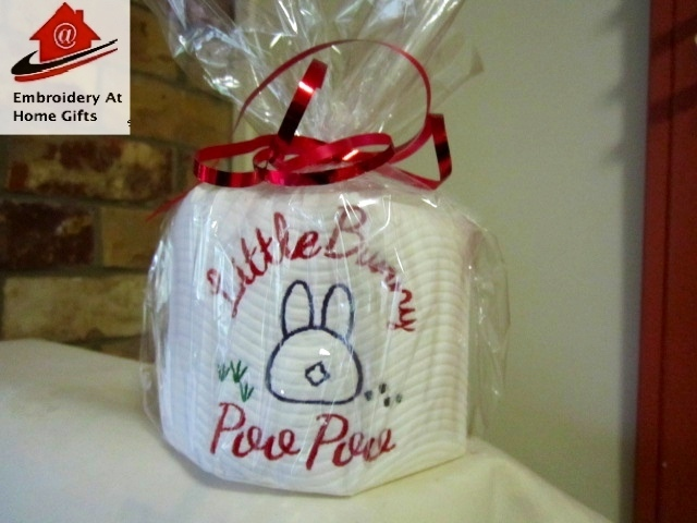 Novelty Fun Embroided Toilet Paper Bunny Poo Poo  (Gift 1 Roll)