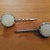 Bobby Pins ~ set of two ~ white pearly stones rimmed with Silvertone metal