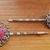 Bobby Pins ~ Set of two ~ pink rose cabochon