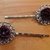 Bobby Pins ~ set of two ~ dark maroon